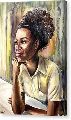 On The Window Canvas Print