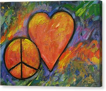 One Peace One Heart Canvas Print