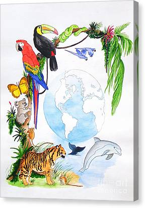 One World Canvas Print by Michaela Bautz
