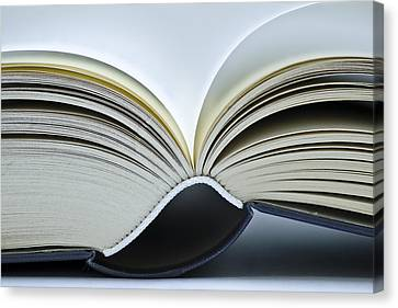 Library Canvas Print - Open Book by Frank Tschakert
