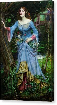 Ophelia Canvas Print by John William Waterhouse
