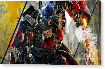 Prime Canvas Print - Optimus Prime Transformers Collection by Marvin Blaine