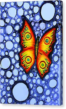 Orange Butterfly Canvas Print by Brenda Higginson