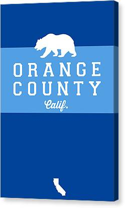 Orange County Canvas Print