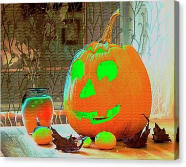 Orange Halloween Decoration Canvas Print