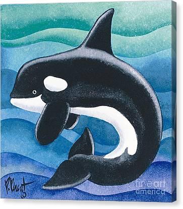 Orca Friend Canvas Print by Paul Brent