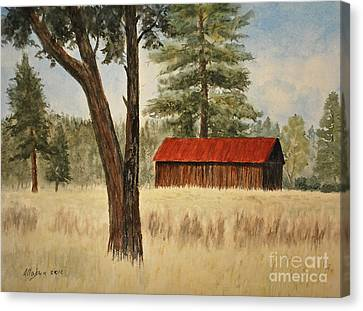 Oregon Barn Canvas Print