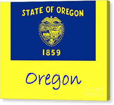 Oregon Flag Canvas Print by Frederick Holiday