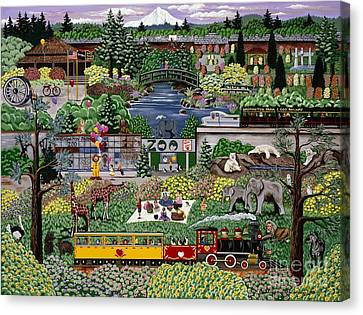 Oregon Zoo Canvas Print