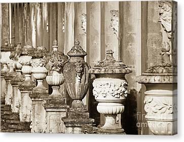 Ornate Garden Urns. Canvas Print by John Greim