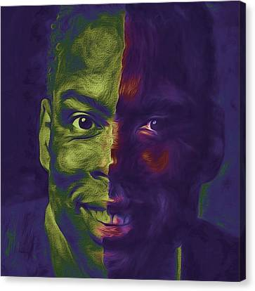 Portraits Canvas Print - #oscars @chrisrock @jerryseinfeld by David Haskett