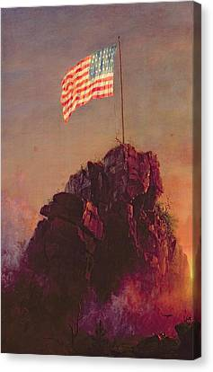 Stars And Stripes Canvas Print - Our Flag by Frederic Edwin Church