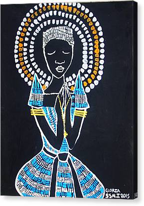Our Lady Of Africa Canvas Print by Gloria Ssali
