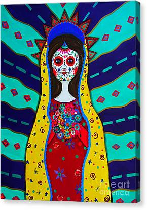 Our Lady Of Guadalupe Canvas Print by Pristine Cartera Turkus