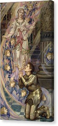 Super Girl Canvas Print - Our Lady Of Peace by Evelyn De Morgan
