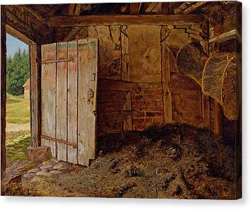 Outhouse Interior Canvas Print by Christen Dalsgaard
