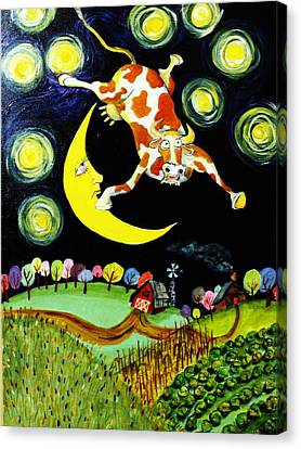 Over The Moon Canvas Print by Tex Norman