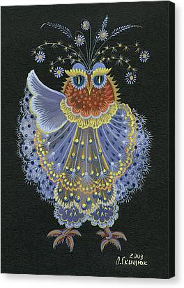 Owl Canvas Print by Olena Skytsiuk