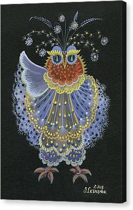 Owl Canvas Print by Olena Skytsiuk