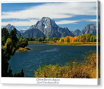 Oxbow Bend In Autumn Canvas Print by Greg Norrell
