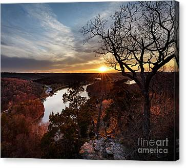 Canvas Print featuring the photograph Ozark Sunset by Dennis Hedberg