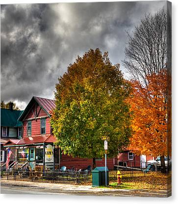 Ozzie's Coffee Bar In Old Forge Ny Canvas Print by David Patterson