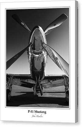 Shiny Canvas Print - P-51 Mustang - Bordered by John Hamlon