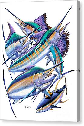 Saltwater Fishing Canvas Print - Pacific Gamefish  by Carey Chen