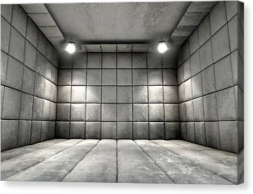 Psychiatric Canvas Print - Padded Cell Dirty by Allan Swart