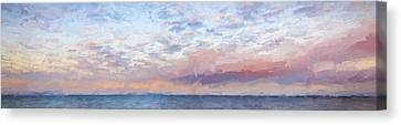 Paddling Out II Canvas Print by Jon Glaser