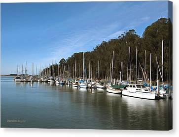 Painting Bay Side Harbor Canvas Print by Barbara Snyder