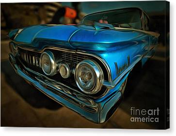 Painting Of 1959 Oldsmobile Dynamic 88 Canvas Print