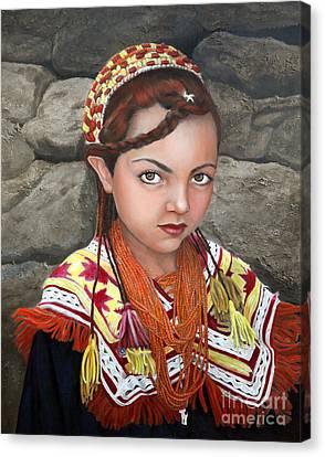 Pakistani Girl Canvas Print by Enzie Shahmiri