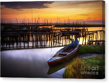 Hdr Landscape Canvas Print - Palaffite Port by Carlos Caetano