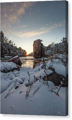 Palisades First Snow Canvas Print by Aaron J Groen