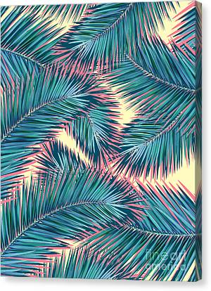 Pattern Canvas Print - Palm Trees  by Mark Ashkenazi
