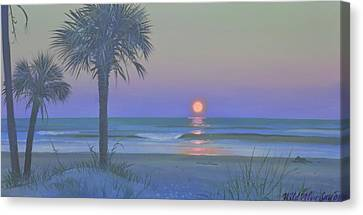 Palmetto Moon Canvas Print by Blue Sky
