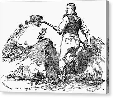 Panama Canal Cartoon Canvas Print by Granger