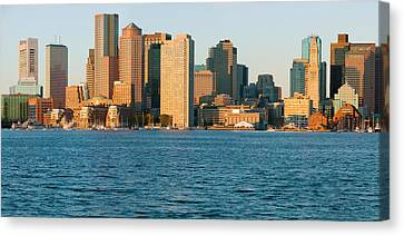 Panoramic Of Boston Harbor Canvas Print by Panoramic Images