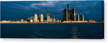 Panoramic Sunrise View Of Renaissance Canvas Print by Panoramic Images