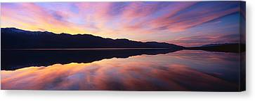 Panamint Valley Canvas Print - Panoramic View At Sunset Of Flooded by Panoramic Images