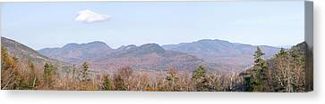 Panoramic View Of Crawford Notch State Canvas Print by Panoramic Images