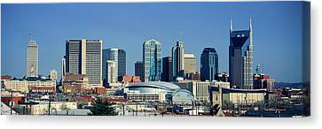 Panoramic View Of Nashville, Tennessee Canvas Print by Panoramic Images