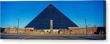 Panoramic View Of The Pyramid Sports Canvas Print by Panoramic Images