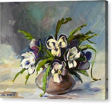 Pansies Canvas Print by Tigran Ghulyan