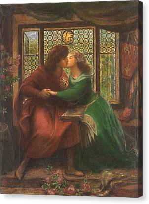 Paolo And Francesca Da Rimini Canvas Print by Celestial Images
