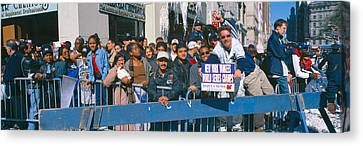 Parade For 1998 World Series Champions Canvas Print by Panoramic Images