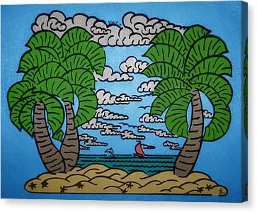 Paradise Maze Canvas Print by Morgan Rex