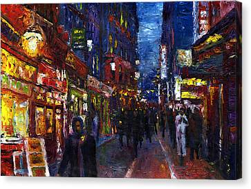 Paris Quartier Latin 01 Canvas Print by Yuriy  Shevchuk