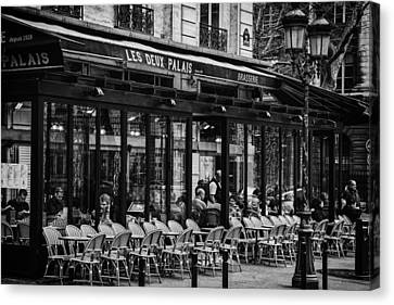Parisian Cafe Canvas Print by Andrew Soundarajan